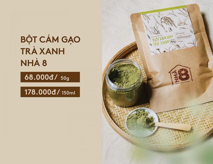 Bột cám gạo trà xanh giá bao nhiêu