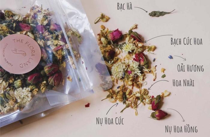 Thành phần của gói xông thảo mộc thải độc da