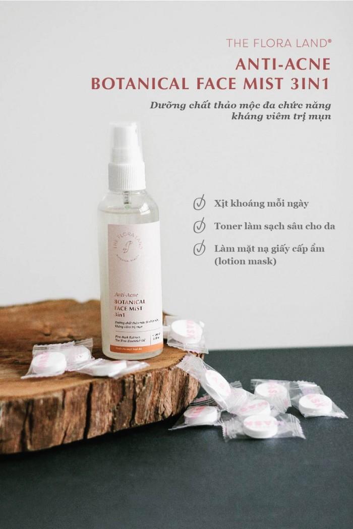 Dưỡng chất thảo mộc đa chức năng kháng viêm trị mụn - Anti Acne Botanical Face Mist 3in1