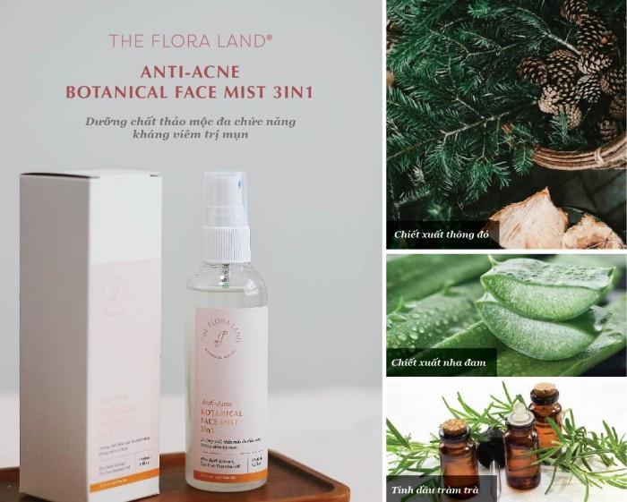Thành phần Dưỡng chất thảo mộc đa chức năng kháng viêm trị mụn – Anti Acne Botanical Face Mist 3in1